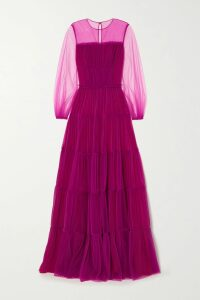 Marchesa - Off-the-shoulder Appliquéd Velvet Gown - Black