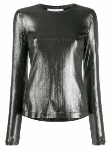 No Ka' Oi metallic fitted top - SILVER