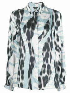 Just Cavalli leopard logo-print shirt - Blue