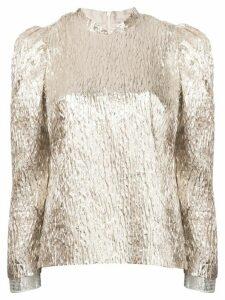 Rachel Comey crinkle metallic blouse - GOLD