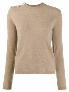 GANNI slim fit jumper - NEUTRALS