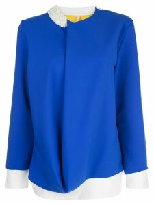 No Ka' Oi drape asymmetric top - Blue
