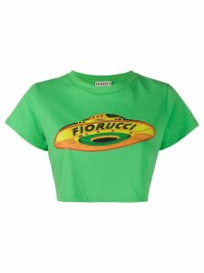 Fiorucci Flying Saucer cropped T-shirt - Green