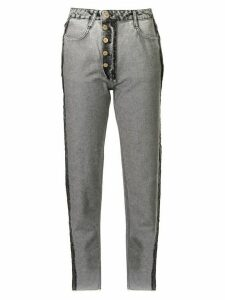 Litkovskaya acid wash tapered jeans - Grey
