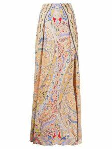 Etro paisley-print A-line maxi skirt - ORANGE