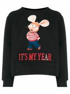 Alberta Ferretti Topo Gigio print cotton sweatshirt - Black
