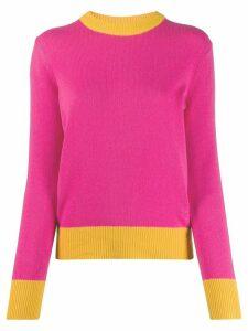 Tory Burch contrast-trim sweater - PINK