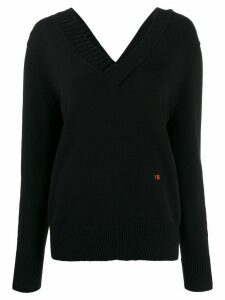Victoria Beckham v-neck knitted jumper - Blue