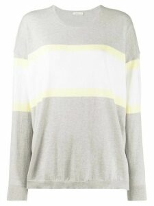 6397 cashmere striped jumper - Grey