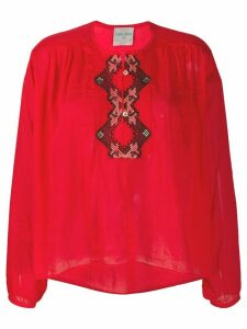 Forte Forte embroidered pattern round neck blouse