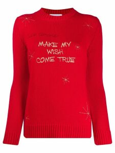 Giada Benincasa slogan embroidery wool jumper - Red