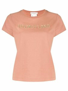 Helmut Lang Baby logo embroidery cotton T-shirt - NEUTRALS