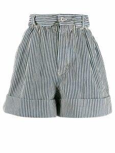 Miu Miu denim striped shorts - Blue