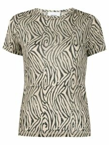 Nanushka zebra print short-sleeve T-shirt - Black
