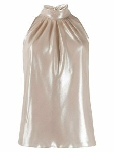 Diane von Furstenberg gathered halterneck top - GOLD