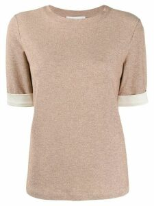 Fabiana Filippi short-sleeve knit top - NEUTRALS