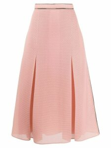 Fendi fold mesh flared skirt - PINK