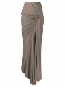 Rick Owens asymmetric maxi skirt - Grey