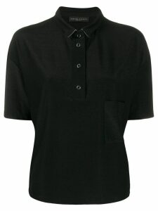 Fabiana Filippi dropped-pocket polo top - Black