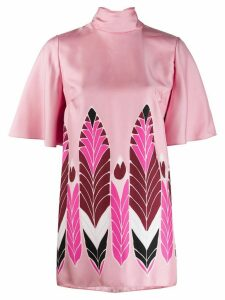 Valentino short-sleeved printed blouse - PINK