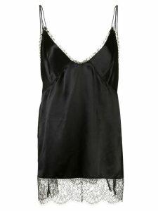 Khaite Emi lace-hem top - Black