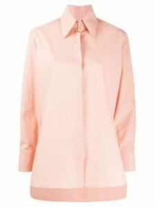 Fendi pointed collar high-low shirt - PINK