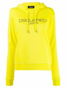 Dsquared2 logo print hoodie - Yellow