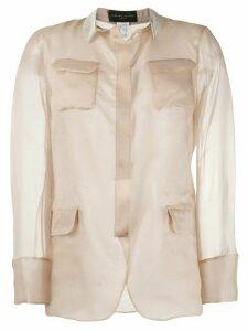 Fabiana Filippi semi-sheer silk shirt - NEUTRALS