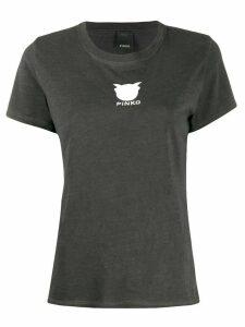 Pinko logo print short sleeve T-shirt - Black