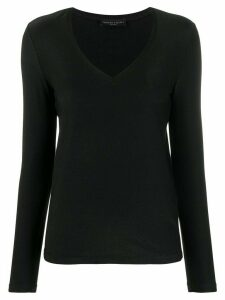Fabiana Filippi slim-fit knitted top - Black