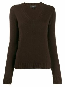 Theory V-neck sweater - Brown