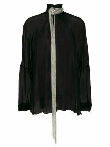 Christopher Kane chain fringe blouse - Black