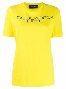 Dsquared2 Capri print T-shirt - Yellow