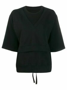 Mm6 Maison Margiela layered effect shortsleeved sweatshirt - Black