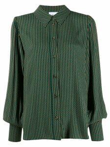 GANNI check pattern shirt - Green