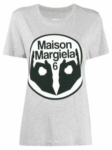 Mm6 Maison Margiela logo print T-shirt - Grey