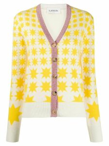LANVIN graphic print cardigan - 80