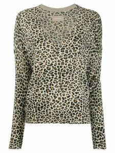 Zadig & Voltaire Brume leopard print pullover - Brown