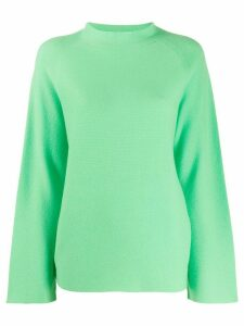 Fabiana Filippi funnel neck jumper - Green