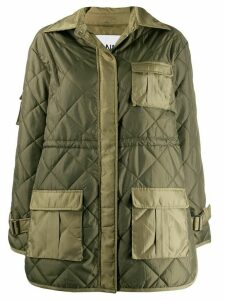 GANNI diamond quilted jacket - Green