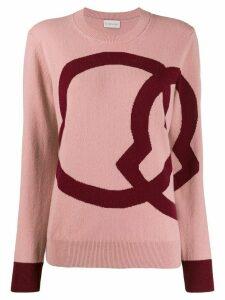 Moncler intarsia jumper - PINK
