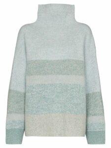 Le Kasha Kinsale panelled cashmere turtleneck jumper - Blue