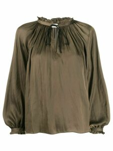 Zadig & Voltaire Theresa gathered detail blouse - Green