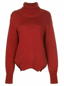 Monse open back jumper - ORANGE