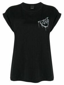 Pinko embroidered logo T-shirt - Black