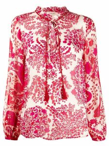 Twin-Set abstract floral-print blouse - Red