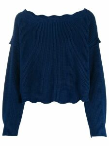 Twin-Set scallop-edge sweater - Blue