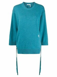Chloé slide slits jumper - Blue