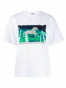 MSGM horse T-shirt - White