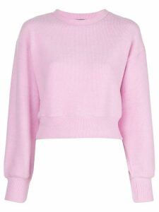 Callipygian ribbed knit jumper - PINK